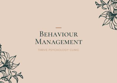 Behaviour Management singapore psychology