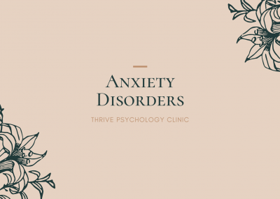 Anxiety disorders singapore psychology therapy