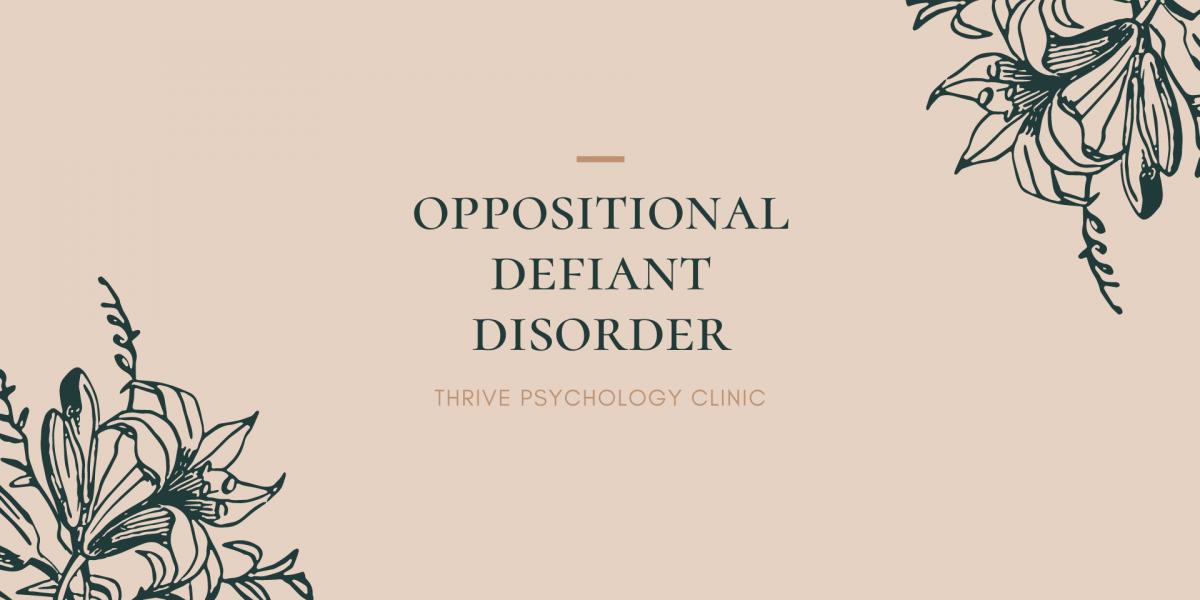 Oppositional defiant disorder ODD psychology