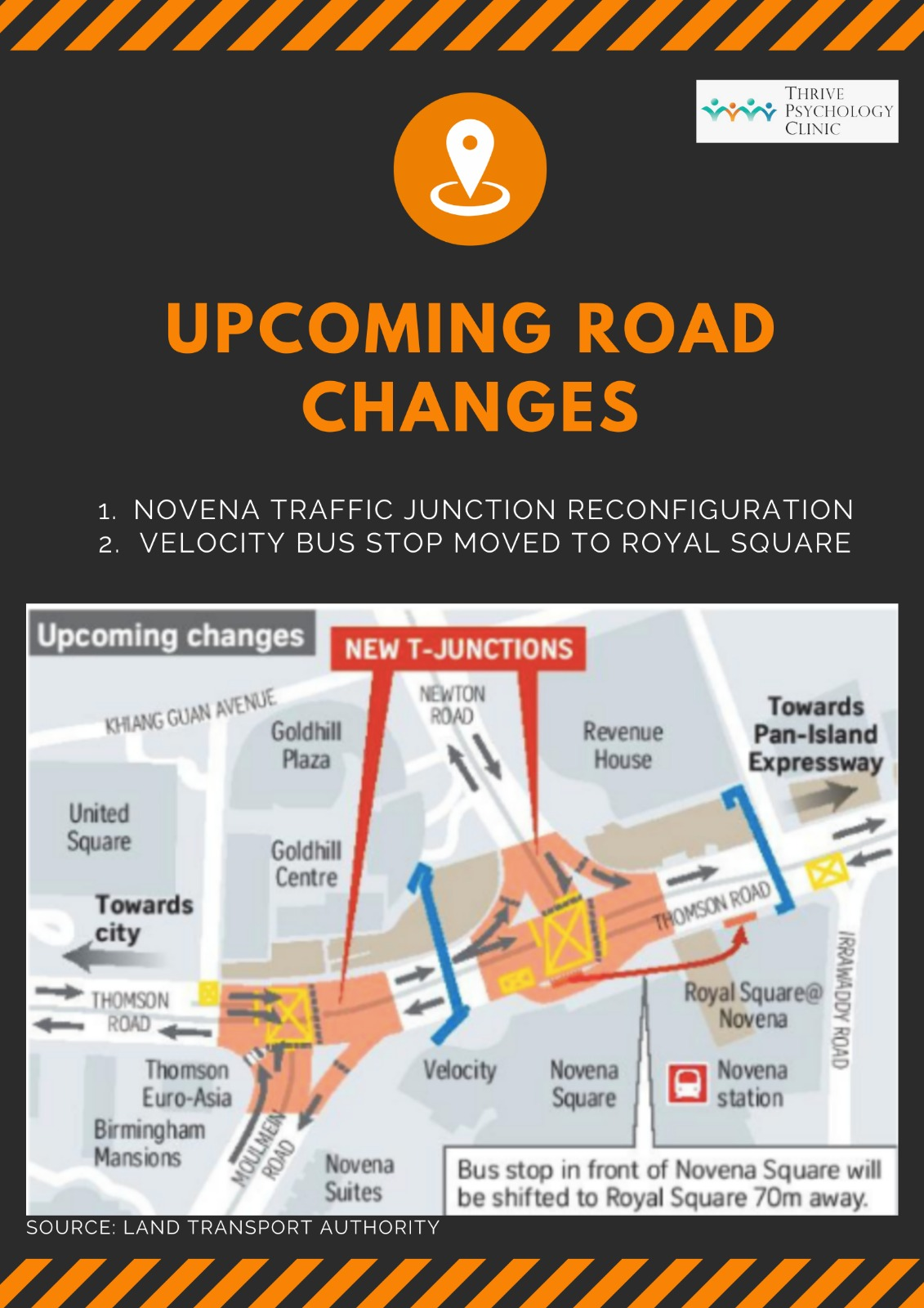Novena Road Changes